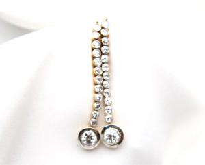 Antique-Vintage-Art-Deco-4-20-Ctw-Round-Diamond-Drop-14K-Gold-Over-Earrings