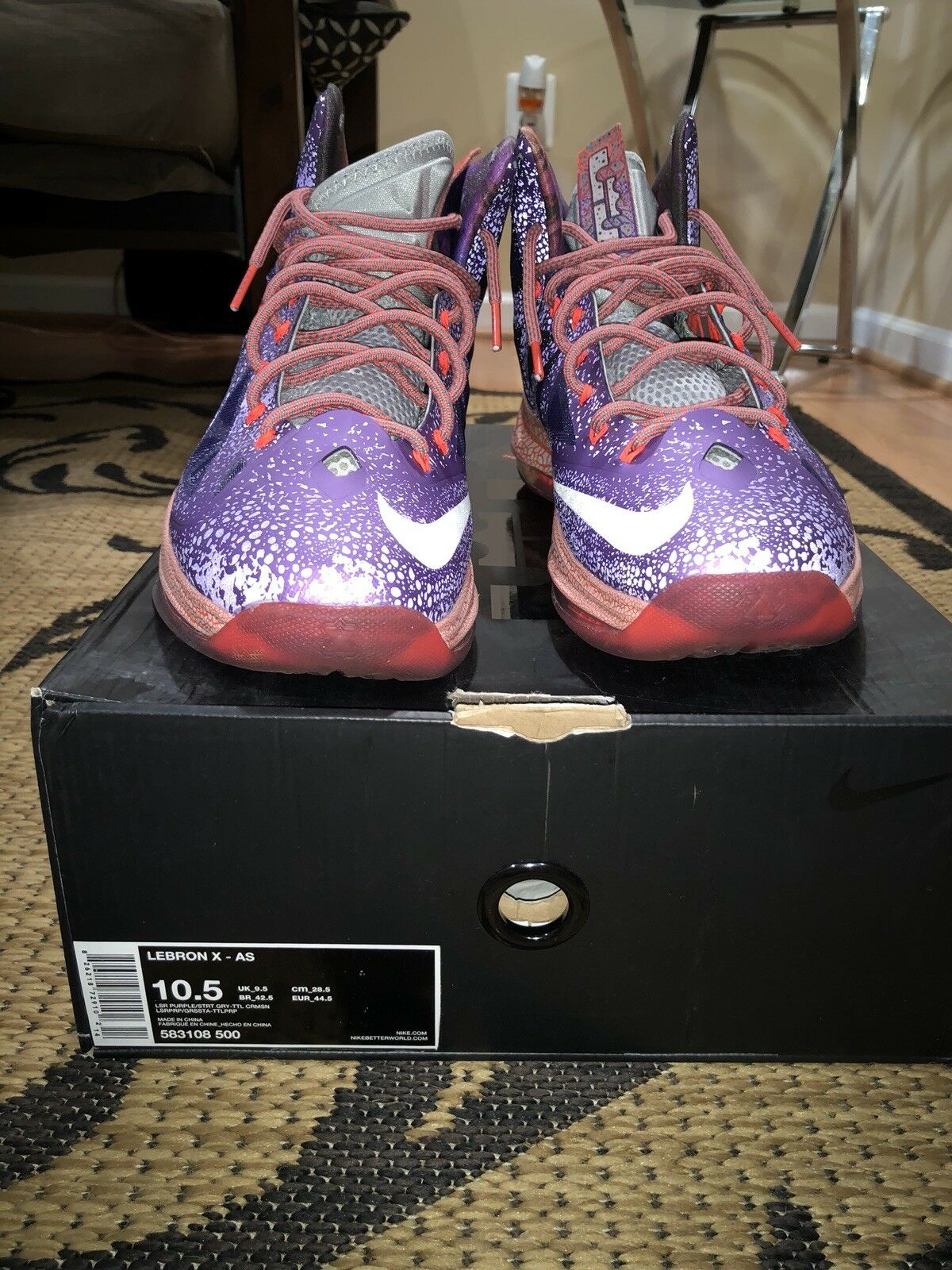 Nike Lebron X 10 All Star Area 72 Asg Extraterrestrial