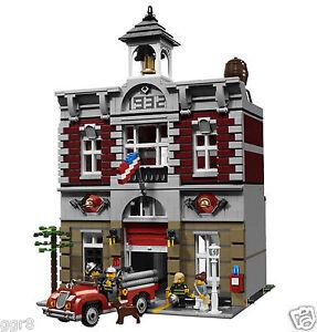 NEW-RETIRED-LEGO-CREATOR-FIRE-BRIGADE-STATION-10197-MODULAR-BUILDING-SERIES