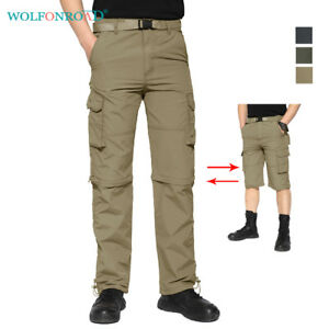 Mens-Quick-Dry-Zip-Off-Convertible-Hiking-Pants-Cargo-Pants-Army-Fishing-Shorts