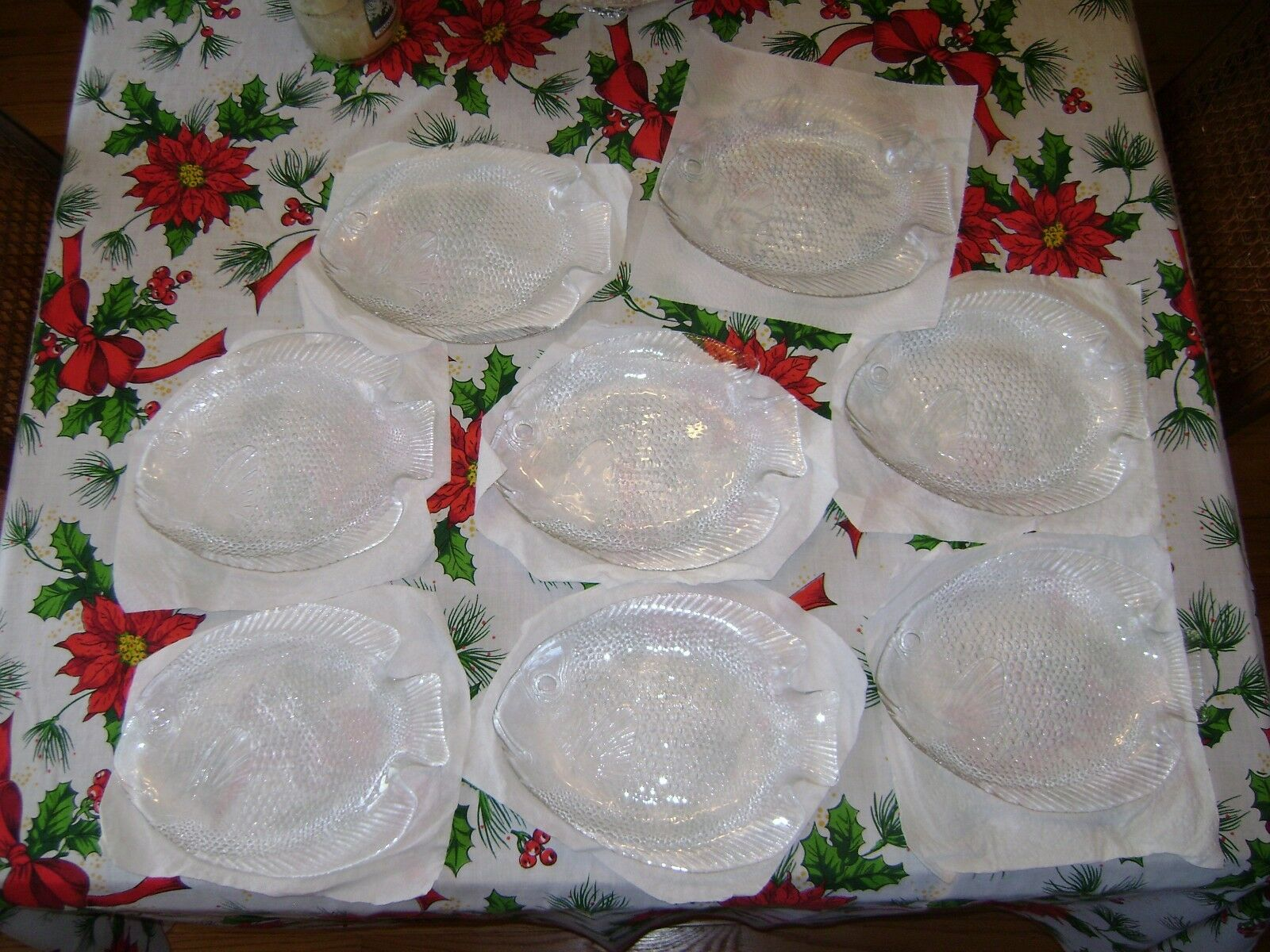 Lot de 8 Arcorc verre Poissons-Themed Serving Vaisselle