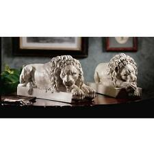 18th Century Vatican Lions Neoclassic Sculpted Replica Sentinel Lions Bookends