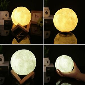 Lighting Details Touch 10cm Night About 3d Kid Luna Lamp Control Light Moon Led Gift Printing wPkOnX80
