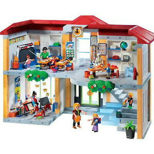 PLAYMOBIL-5923-SCHOOL-BUILDING-WITH-FURNISHINGS-NEW