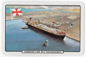 Playing-Cards-Single-Card-Old-HARRISON-LINE-Shipping-Advertising-M-V-ASTRONOMER