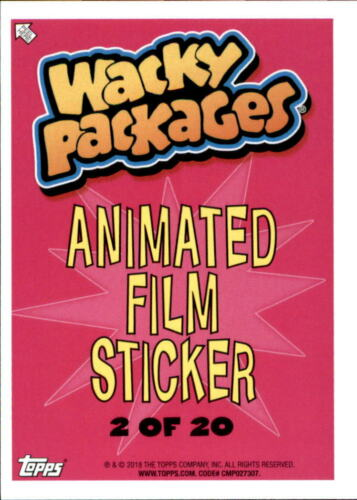 NM-MT 2018 Wacky Packages Go to the Movies Animated Film Blue #2 Swamp Shrex