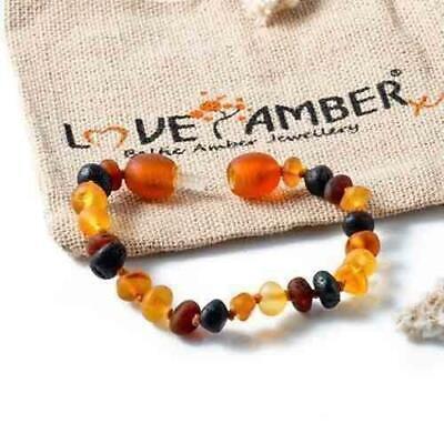 Boys Girls Child Shingle Raw Mixed Genuine Baltic Amber Anklet Love Amber x UK