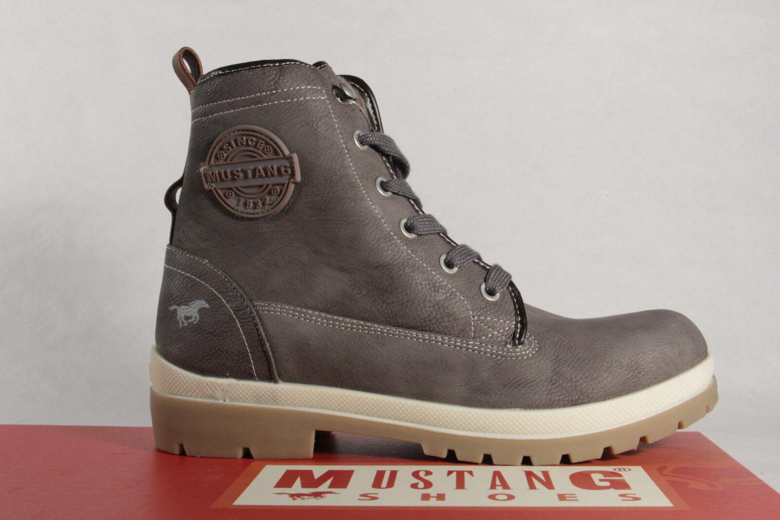 Mustang Stiefel Stiefel Stiefeletten Schnürstiefel Stiefel Mustang grau 1207  NEU d1564e