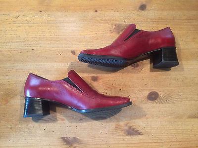 Sally O'Hara Pumps Gr. 40 Schuhe für Damen, rot, elegant, Lederschuhe, wie neu