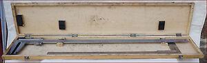 P Roch 41in/105cm & 31 1/2in/80cm Master Vernier Caliper Caliber .001 Box France - France - État : Occasion : Objet ayant été utilisé. Objet présentant quelques marques d'usure superficielle, entirement opérationnel et fonctionnant correctement. Il peut s'agir d'un modle de démonstration ou d'un objet retourné en magasin aprs un - France