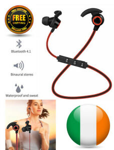 Bluetooth Earphones Wireless Sweatproof for iPhone Android built in Mic Earbuds