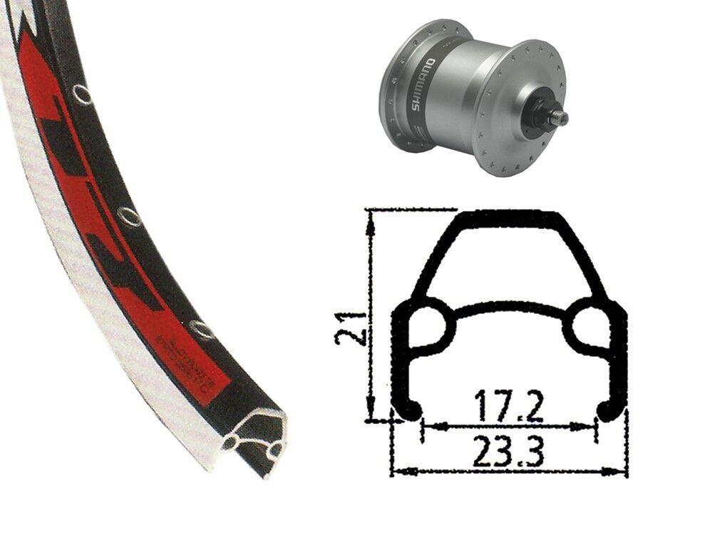 Bike-Parts 28″ Vorderrad  Rodi VR 17 + Nabendynamo Shimano DH-C3003 (QR)  world famous sale online