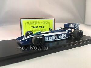 1/43 kit dompter la F1 Brabham BT55 Bmw # 8 de Monaco Gp 1986 E. De Angelis Tmk267