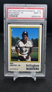 1987-Bellingham-Mariners-Ken-Griffey-Jr-pre-RC-Rookie-15-PSA-9-Mint-Hi-End