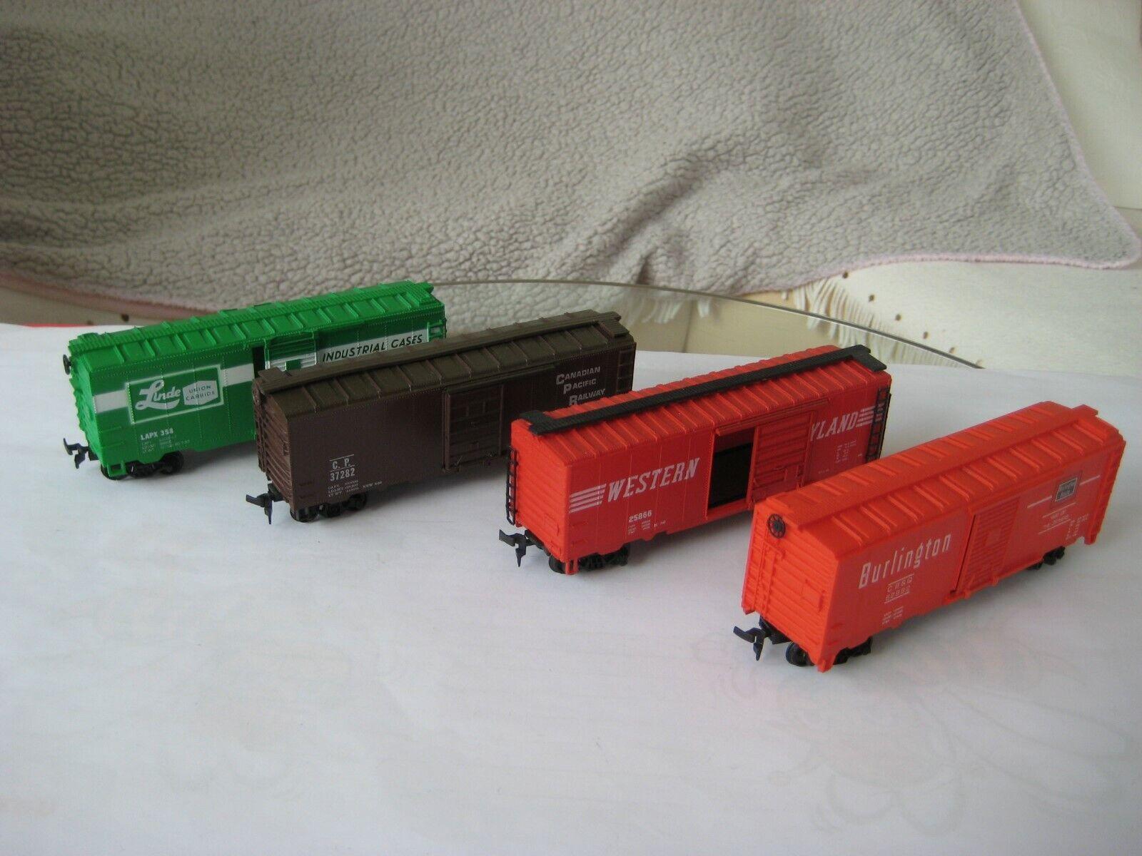 US-GüterwagenBoxcar 4 Stk-40 ft Steel div Bahngesellschaften    | Bevorzugtes Material  8be980