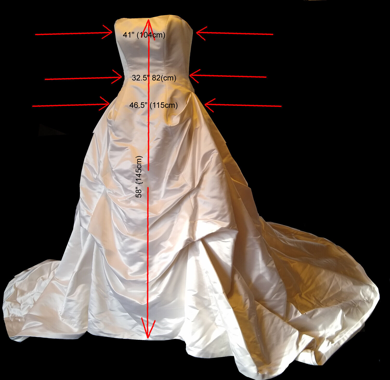 *NEW* Authentic Ulla Maija Anna Maier Whirlwind Strapless Wedding Dress Size 10