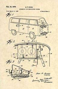 Volkswagen-Bus-US-Patent-Art-Print-Vintage-Antique-1970-VW-Original-163