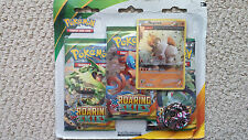 Regirock XY6 Pokemon Blister Pack 3 Roaring Skies Boosters + Promo and Coin