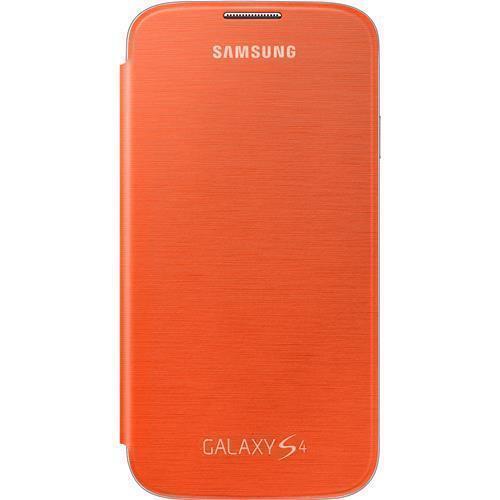 designer fashion cb78a 5599f Genuine Samsung Galaxy S4 Flip Cover Orange -