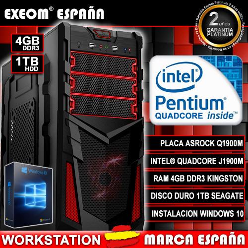 Ordenador De Sobremesa Pc Gaming Intel Quad Core 9.6GHZ 4GB 1TB HDMI...
