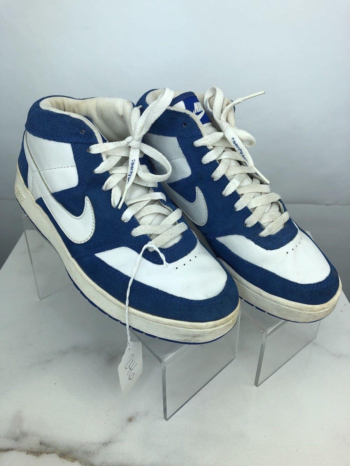 Nike 20 Retro Fleet Center 20 Nike High Top Blue/White Leather 308443 Size 8 () 9c711e