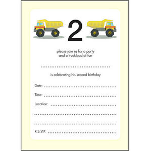 Image Is Loading 10 Childrens Birthday Party Invitations 2 Years Old