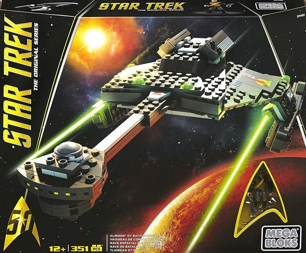 #2 Mega Bloks-star Trek Dph80 Klingon D7 Battle Cruiser-klingonenkreuzer-neuf Dans Sa Boîte-nenkreuzer-ovp Fr-frafficher Le Titre D'origine