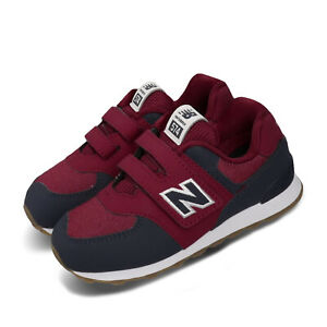 New-Balance-574-Wide-Red-Navy-White-Gum-TD-Toddler-Infant-Baby-Shoes-IV574DMI-W