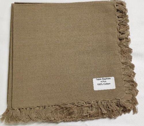 Pack of 4 Napkins 100/% Pure Cotton 43cm Assorted Colour Quality Serviette