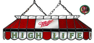 Miraculous Details About Miller High Life Beer Billiards Stained Glass Mirror Pool Table Light Lamp Download Free Architecture Designs Viewormadebymaigaardcom