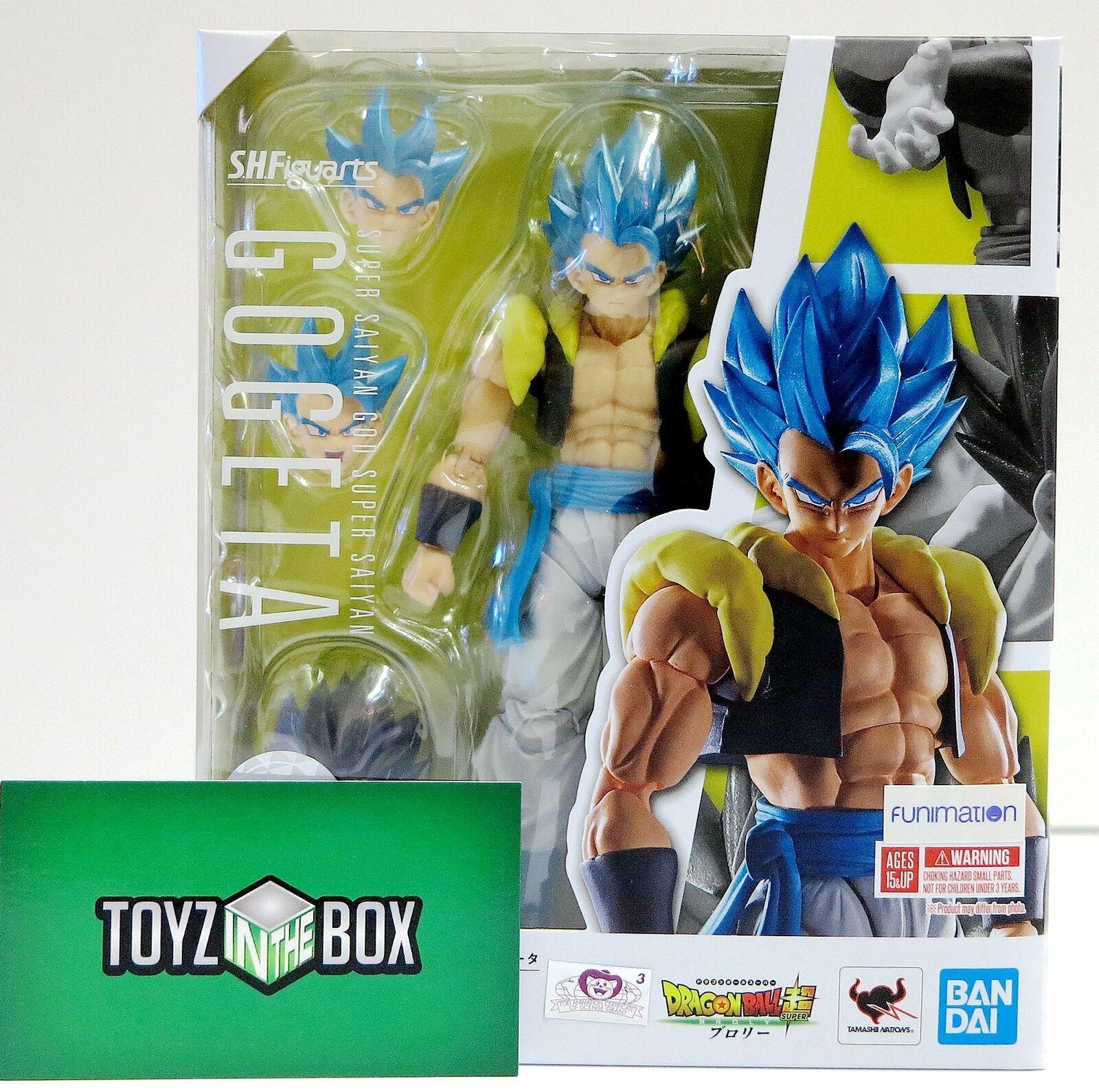 In STOCK S.H. Figuarts Dragon Ball Super Super Saiyan God Gogeta Action Figure