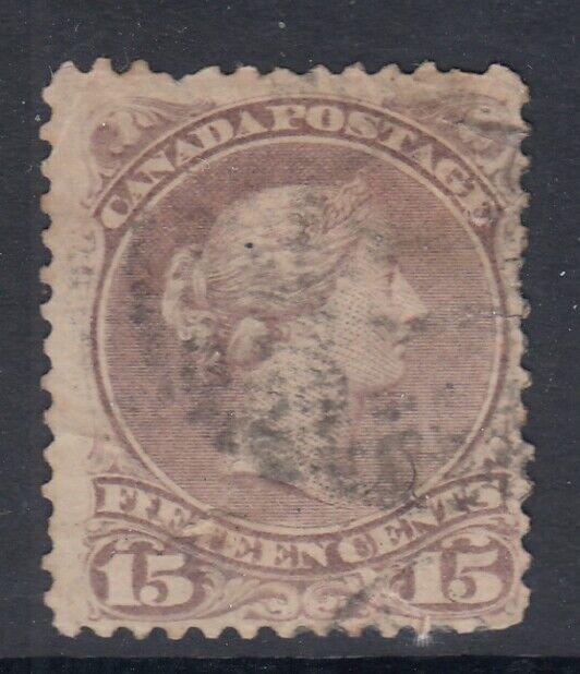 Canada Scott #29b  15 cent red lilac