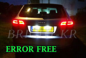 AUDI-A2-A3-A6-TT-XENON-ICE-WHITE-NUMBER-PLATE-LED-LIGHT-BULBS-ERROR-FREE
