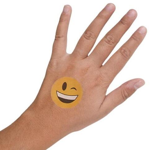 "48 Emoji 2/"" Tattoos Birthday Party Favor Goody Bags Bulk Wholesale Carnival New"