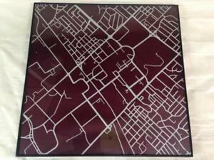 Texas Am Campus Map.Texas A M University Campus Map 12 Framed Wall Art Print Abstract