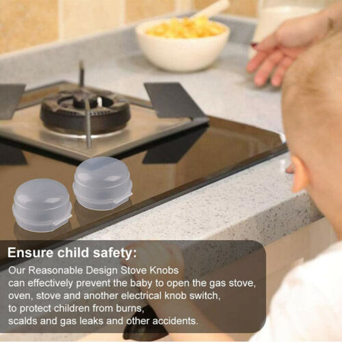 2er Herd Gasherd Knob Abdeckungen Küche für Kindersicherung Schutz Transparent