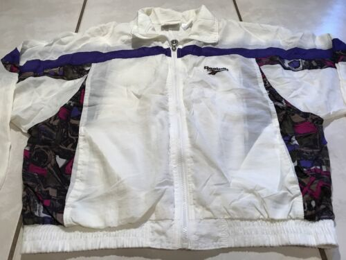 Windbreaker Sjælden Lightweight Reebok Women's Vintage Large Jacket 1twqrtH