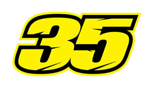 CAL CRUTCHLOW 35 Number - Moto GP STICKER DECAL Medium | eBay