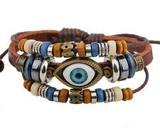 Surfer Armband braun Leder blaue Auge der Fatima Nazar