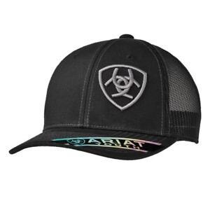 8a51855855085 Ariat Kids Hat Youth Baseball Cap Mesh Back Logo Black 1518101 ...