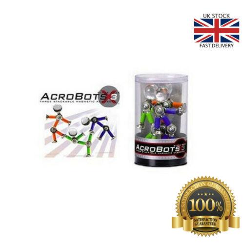 Hogwild acrobots Pila Pack X3 Magnético desechables Figures Toy Play Palo Flexible