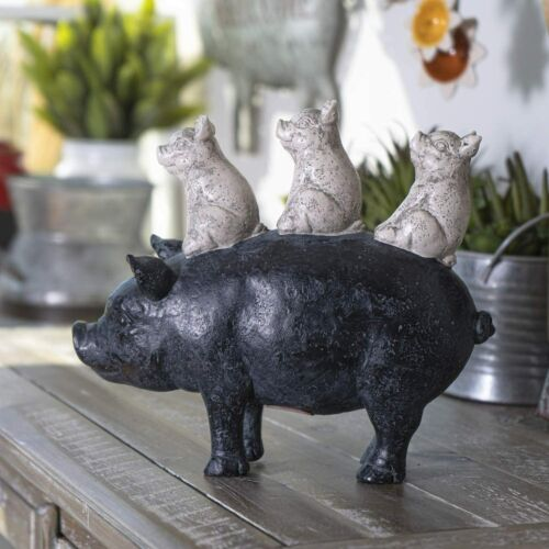 SUMMIT COLLECTION Rustic Decor Barnyard Designs Stacked Piglets on Mother Pig F