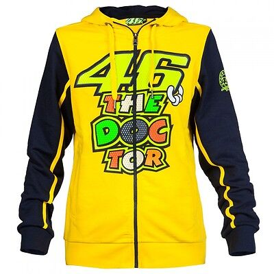 New Official Valentino Rossi VR46 Woman/'s Yellow Hoodie  VRWFL 539 01