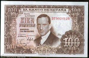 100-Pesetas-7-Abril-1953-Romero-de-Torres-Sin-Circular