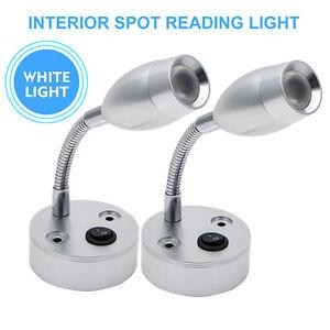 12V-LED-Spot-Reading-Light-Switch-Camper-Caravan-Boat-Interior-Light-lamp
