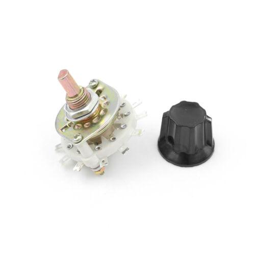 1Pcs Plastic Knob 2P5T 2 Poles 5 Position Band Channel Rotary Switch OQHN PR