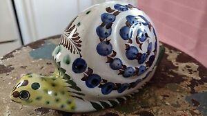 Vintage Pottery SNAIL Handpainted Tolana MEXICO