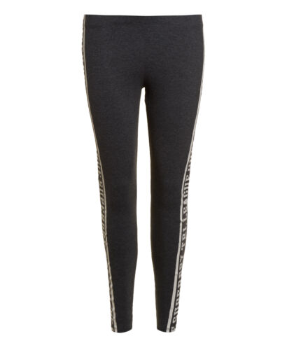 New Womens Superdry Factory Second Tri League Graphic Leggings Charcoal Marl