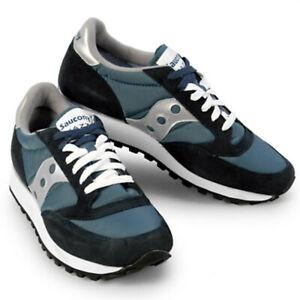 Dettagli su Scarpe Da Uomo Saucony Jazz Original 2044 2 Blu Grigio Sneakers Sportiva Casual