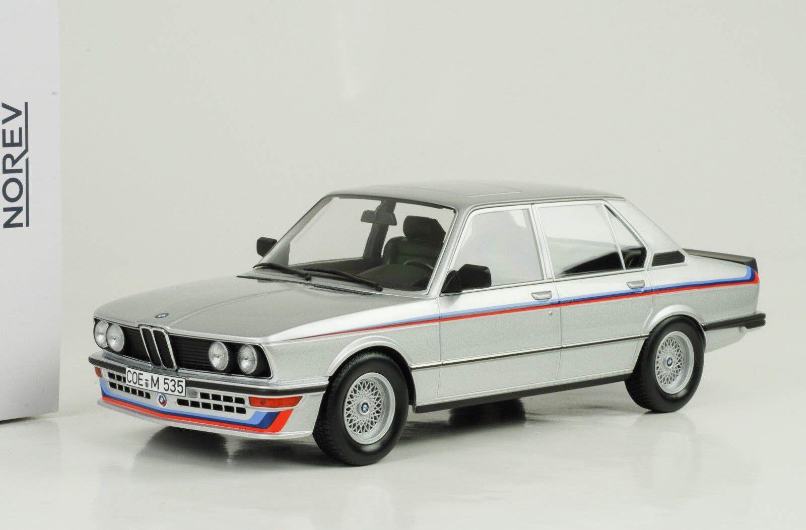 1980 BMW 535i m535i e12 argent métallique 1 18 Norev 183266